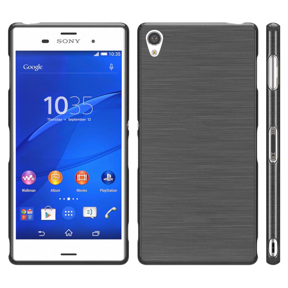 Brushed Cover für Sony Xperia Serie Schutz Hülle Slim Case ...