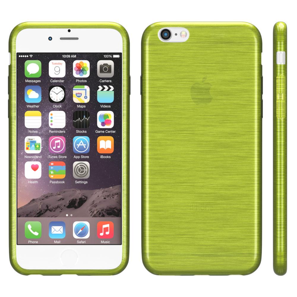 brushed cover f r apple iphone serie schutz h lle silikon. Black Bedroom Furniture Sets. Home Design Ideas